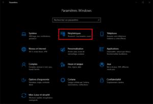 paramétrés-périphériques-Windows10