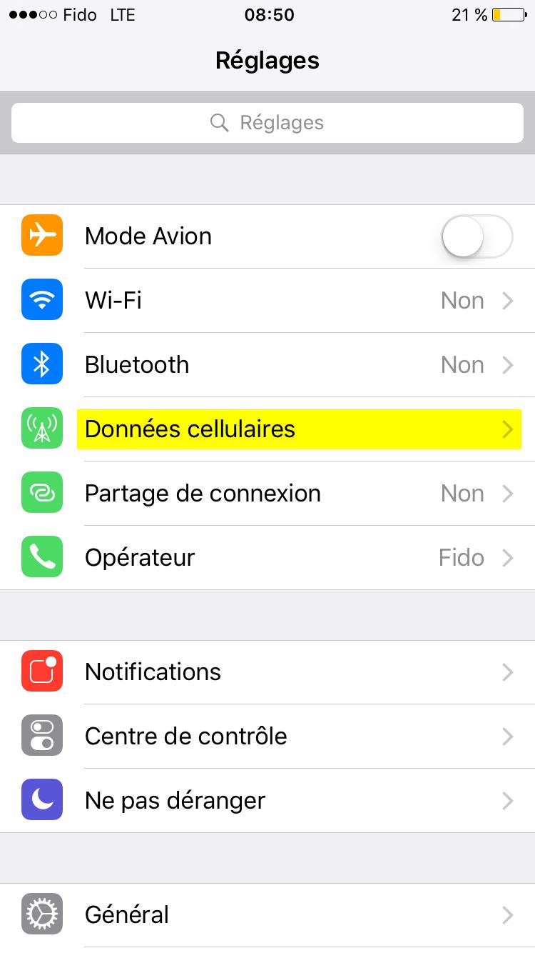 données-cellulaires-sur-iPhone