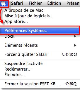 Préférences-Système-mac