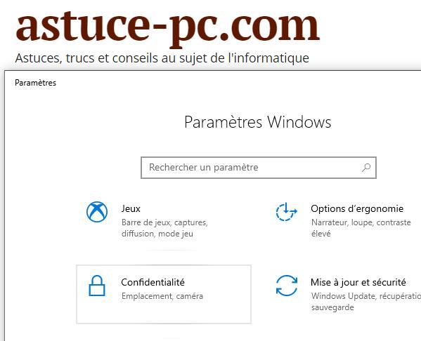 Bloquer-les-applications-qui-accèdent-à-la-webcam-Paramètres-Confidentialité