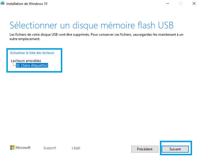 sélectionnez-votre-clé-USB