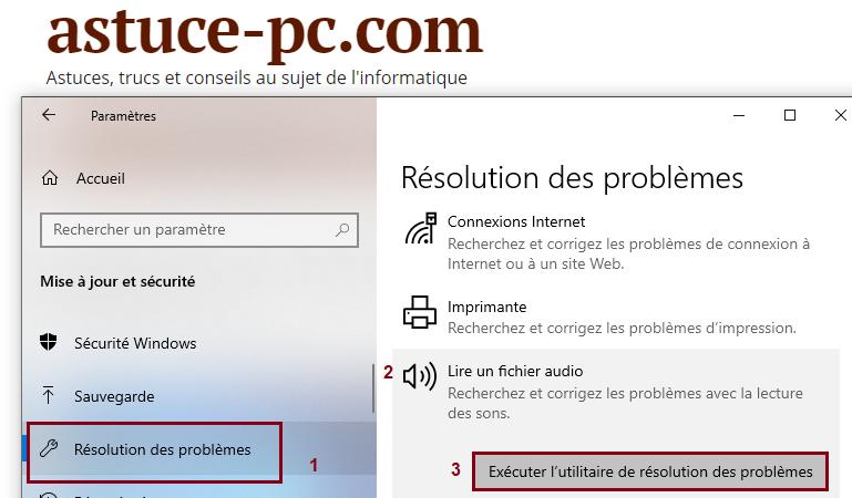 Exécutez-l'utilitaire-de-résolution-des-problèmes-audio