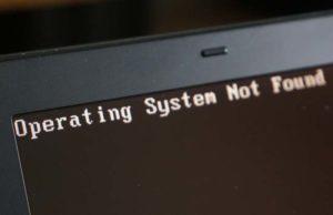 Système-d'exploitation-introuvable-Windows 10