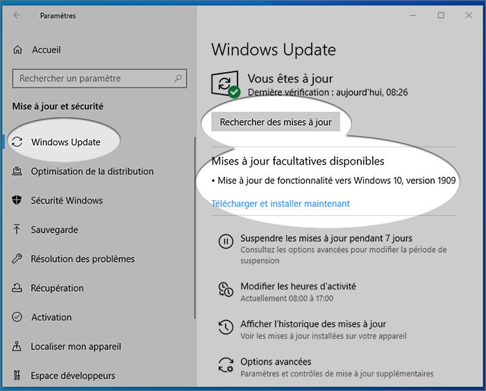 réparer-l'adaptateur-USB-vers-HDMI-qui-ne-fonctionne-pas-rechercher-les-mises-à-jour-windows-10