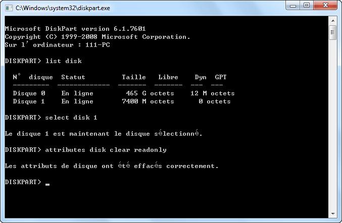 Tapez-list-disk