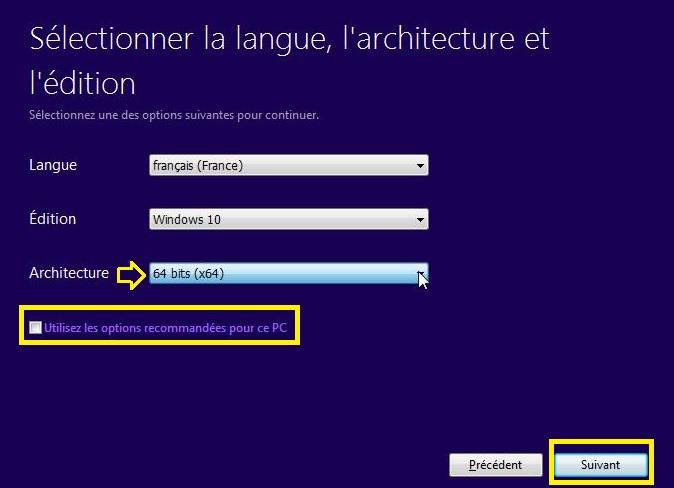 passer-de-Windows-10-32-bits-à-64-bits-sélectionnez-Langue-Édition-de-Windows-10